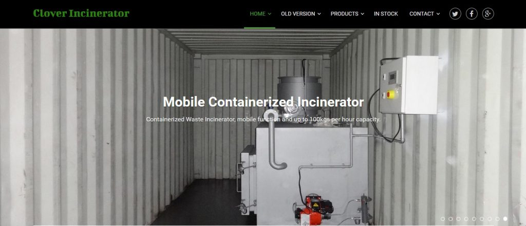 Containerized Medical Waste Incinerator